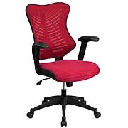 Flash Furniture BLZP806BY Mesh Office Chair, Burgundy