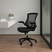 Flash Furniture Mesh Back Faux Leather Computer and Desk Chair, Black (BLX5MLEA)