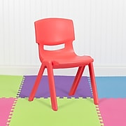 Flash Furniture Plastic School Chair, Red (1YUYCX005RED)