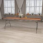 """Flash Furniture Folding Table, 96"""" x 36"""", Wood Grain (XA-3696-P-GG)"""