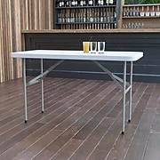 "Flash Furniture Folding Table, 48"" x 24"", White (DAD-YCZ-122-2-GG)"
