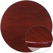 Flash Furniture 48'' Round Resin Table Top; Mahogany (TPMAH48RD)