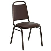 Flash Furniture Hercules Trapezoidal Back Stacking Banquet Chair, Brown, 1.5'' Seat, Copper Vein