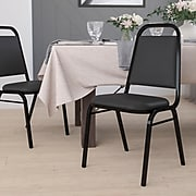 Flash Furniture Hercules Series Trapezoidal Back Stacking Banquet Chair w/Black, 1.5'' Seat, Black