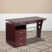 "Flash Furniture 47"" Laminate L-Shape Computer Desk, Mahogany (NANWK008)"