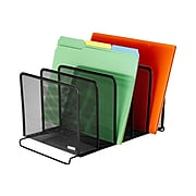 Rolodex 5-Compartment Wire Mesh File Organizer, Black (22141)