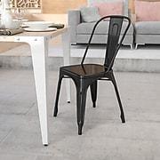 Flash Furniture Black Metal Indoor-Outdoor Stackable Chair (CH31230BK)