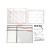U Brands Value Pack Desktop Filing Set, Rose Gold Metal (2369U00-01)