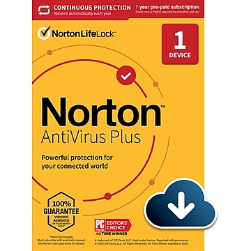 Norton AntiVirus Plus for 1 Device, Windows/Mac, Download (21390616)