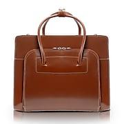 McKlein LAKE FOREST W Series Laptop Briefcase, Brown Genuine Leather (94334)