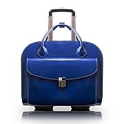 McKlein Granville L Series Laptop Briefcase, Navy Genuine Leather (96147A)