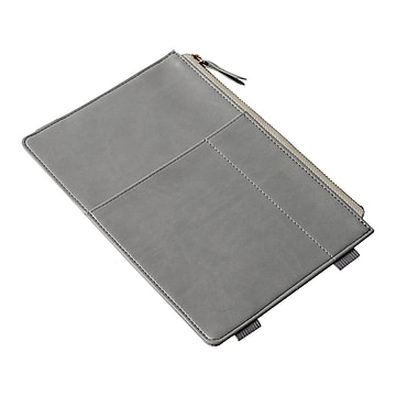Martha Stewart Small Notebook Zipper Pouch, Gray (MS108F)