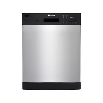 Danby Full Size Built-In Dishwasher, Stainless (DDW2404EBSS)