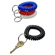 Baumgarten Wrist Coil Key Chain, Assorted Colors, Pack of 10 (BAUMCK7000