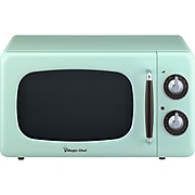 Magic Chef 0.7-Cubic Foot 700W Retro Countertop Microwave Oven, Mint Green (MCD770CM)