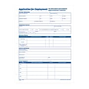 Adams Employment Applications, 50/Pad, 2 Pads/Pack (ABF 9661)