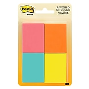 """Post-it® Notes, 1 1/2"""" x 2"""", Cape Town Collection, 50 Sheets/Pad, 8 Pads/Pack (653-8AF)"""