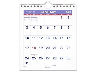 AT-A-GLANCE 2020-2021 21.75 x 17 Desk or Wall Calendar SK2416-00-21