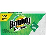 Bounty Luncheon Napkins, 1-Ply, White, 100/Pack (34884)