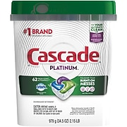 Cascade Platinum ActionPacs Dishwasher Detergent Pods, Fresh Scent, 62/Pack (97726)