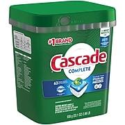Cascade Complete ActionPacs Dishwasher Detergent Pods, Fresh Scent, 63/Pack (97720)