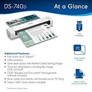 Brother DSmobile DS-740D Duplex Portable Scanner White