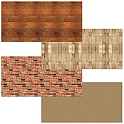 """Fadeless Bulletin Board Art Paper, 48"""" x 12', Rustic Assortment, 4 Rolls (PAC0057536)"""