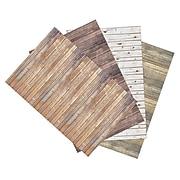 """Dixon Ella Bella Photography Backdrop Paper, 48"""" x 12', Assorted Wood, 4 Rolls (PAC2506)"""