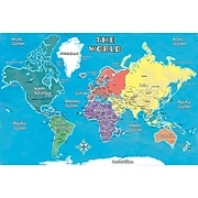 "Replogle Young Explorer World Map, 42"" x 30"" (RE-72162)"