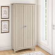 "Bush Furniture Salinas 63"" Storage Cabinet with 5 Shelves, Antique White (SAS332AW-03)"