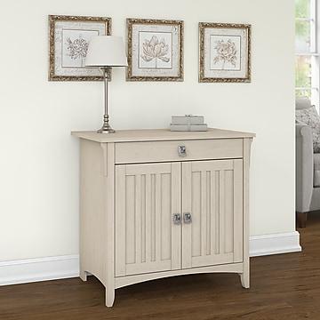 """Bush Furniture Salinas 32"""" Table Desk, Antique White (SAS432AW-03)"""