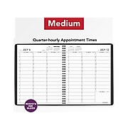 """2020-2021 AT-A-GLANCE 7"""" x 8.75"""" Academic Appointment Book, Black (709580521)"""