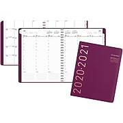 "2020-2021 AT-A-GLANCE 8.25"" x 11"" Academic Appointment Book, Contempo, Wine (70-957X-59-21)"