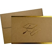 Great Papers! Grad-Itude Gold Foil Personal Thank You Notecard, Kraft/Gold, 50/Pack (2020032)