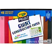 Crayola Project Giant Construction Paper, Assorted Colors, 48/Pack (99-0078)
