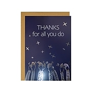 Great Papers! All You Do Luster Personal Thank You Notecard, Blue/Gold, 3/Pack (2020012)