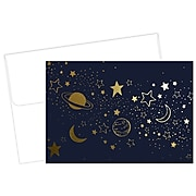 Great Papers! Cosmic Night Luster Personal Notecard, Blue/Gold, 50/Pack (2020031)