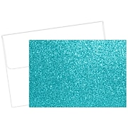 Great Papers! Teal Glitter Luster Personal Notecard, Blue, 15/Pack (2020025)