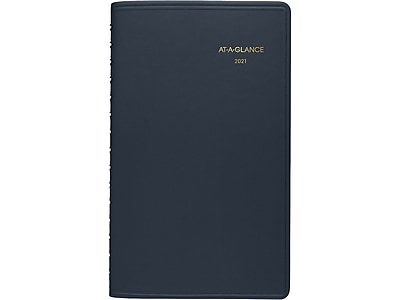 """Blue CoverNEW 5 1//2/"""" x 8/"""" 2021 At-A-Glance 70-075-20 Weekly Planner"""