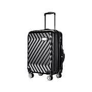 Luggage Tech Monaco Polycarbonate 4-Wheel Spinner Luggage, Black (HLGC3018BK20-88)