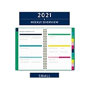 "2021 AT-A-GLANCE 5.5"" x 8.5"" Planner, Simplified by Emily Ley, Green (EL56-200-21)"