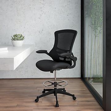 Flash Furniture Mid-Back Design Mesh Task Chair, Black (BL-X-5M-D-GG)
