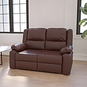 "Flash Furniture 38""H Brown Leather Recline Loveseat (BT70597LSBN)"