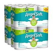 Angel Soft 2-Ply Standard Toilet Paper, White, 230 Sheets/Roll, 12 Rolls/Pack, 4 Packs/Carton (79019)