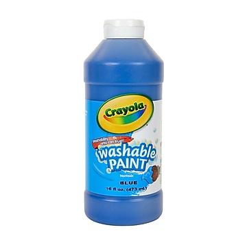 Crayola Washable Paints, Blue, 16 oz. (54-2016-042)