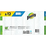 Bounty Select-A-Size Kitchen Roll Paper Towels, 2-Ply, 83 Sheets/Roll, 8 Rolls/Pack (74728)