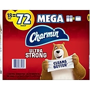 Charmin Ultra Strong Mega 2-Ply Toilet Paper, White, 286 Sheets, 18 Rolls/Pack (52084)