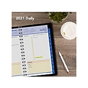 "2021 AT-A-GLANCE 4.88"" x 8"" Appointment Book, QuickNotes, Black (76-04-05-21)"