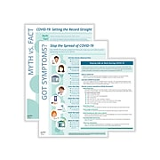 ComplyRight COVID-19 Employee Preparedness Poster Kit, English, Teal/White (N0090)