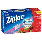 Ziploc Slider Storage Bags, Quart, 76/Carton (316490)